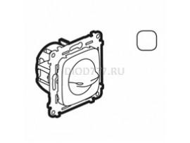 Legrand Valena Allure Выключатель вентилятора 4-позиционный С лицевой панелью Винтовые зажимы Белый
