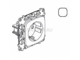 Legrand Valena Allure Силовая розетка 2К+З 16А 250В с защитными шторками Безвинтовые зажимы С лицевой панелью Белая