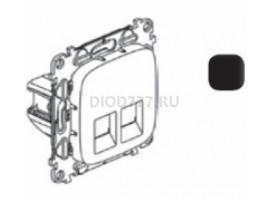 Legrand Valena Allure Информационная розетка двойная RJ45 Кат 6 UTP С лицевой панелью Антрацит