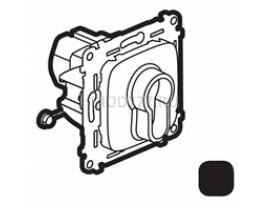 Legrand Valena Allure Переключатель кнопочный с ключом, 3 положения, с самовозвратом 10А 230В С лицевой панелью Антрацит