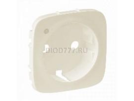 Legrand Valena Allure Лицевая панель розетки 2К+З с линзой для подсветки/индикации Слоновая кость