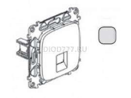 Legrand Valena Allure Информационная розетка одиночная RJ45 Кат 5е UTP С лицевой панелью Алюминий