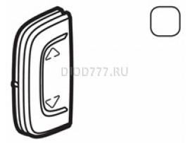 """Legrand Valena Allure MyHome Лицевая панель для механизмов BUS/SCS С символом """"Вверх-вниз"""" 1 модуль Установка справа или слева Белая"""