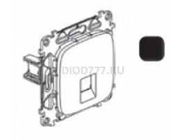 Legrand Valena Allure Информационная розетка одиночная RJ45 Кат 6 UTP С лицевой панелью Антрацит