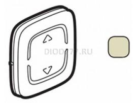 """Legrand Valena Allure MyHome Лицевая панель для механизмов BUS/SCS С символом """"Вверх-вниз"""" 2 модуля Слоновая кость"""