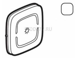 """Legrand Valena Allure MyHome Лицевая панель для механизмов BUS/SCS С символом """"Освещение"""" 2 модуля Белая"""