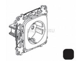 Legrand Valena Allure Силовая розетка 2К+З 16А 250В с лицевой панелью Безвинтовые зажимы Антрацит