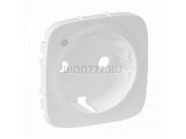 Legrand Valena Allure Лицевая панель розетки 2К+З с линзой для подсветки/индикации Белая