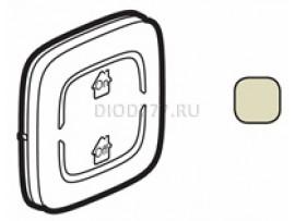 """Legrand Valena Allure MyHome Лицевая панель для механизмов BUS/SCS С символом """"GEN-On-Off"""" 2 модуля Слоновая кость"""