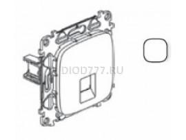 Legrand Valena Allure Информационная розетка одиночная RJ45 Кат 6 UTP С лицевой панелью Белая