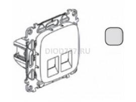 Legrand Valena Allure Информационная розетка двойная RJ45 Кат 6 UTP С лицевой панелью Алюминий