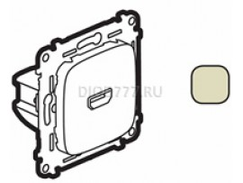 Legrand Valena Allure Розетка для аудио/видео устройств HDMI Тип А С лицевой панелью Слоновая кость