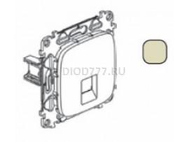 Legrand Valena Allure Информационная розетка одиночная RJ45 Кат 6 UTP С лицевой панелью Слоновая кость