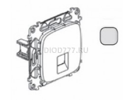 Legrand Valena Allure Информационная розетка одиночная RJ45 Кат 6 UTP С лицевой панелью Алюминий