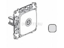Legrand Valena Allure Розетка ТВ проходная 1, 5дБ/14дБ 0-2400 МГц С лицевой панелью Алюминий