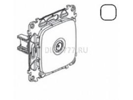 Legrand Valena Allure Розетка ТВ проходная 1, 5дБ/14дБ 0-2400 МГц С лицевой панелью Белая