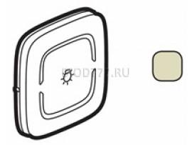 """Legrand Valena Allure MyHome Лицевая панель для механизмов BUS/SCS С символом """"Освещение"""" 2 модуля Слоновая кость"""