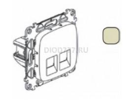 Legrand Valena Allure Информационная розетка двойная RJ45 Кат 6 UTP С лицевой панелью Слоновая кость