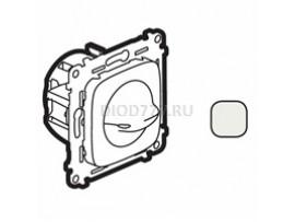 Legrand Valena Allure Выключатель вентилятора 4-позиционный С лицевой панелью Винтовые зажимы Жемчуг