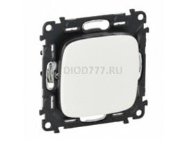Legrand Valena Allure Выключатель 10АХ 250В с лицевой панелью Безвинтовые зажимы Белый