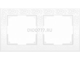 WL05-Frame-02-white /  Рамка на 2 поста (белый)