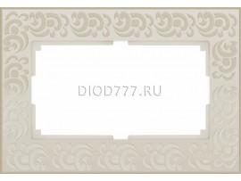 WL05-Frame-01-DBL-ivory  / Рамка для двойной розетки (слоновая кость)