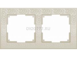 WL05-Frame-02-ivory / Рамка на 2 поста (слоновая кость)