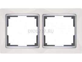WL03-Frame-02-white / Рамка на 2 поста (белый)