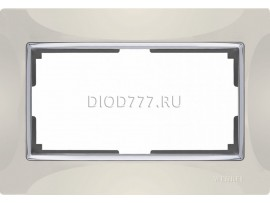 WL03-Frame-01-DBL-ivory / Рамка для двойной розетки (слоновая кость)