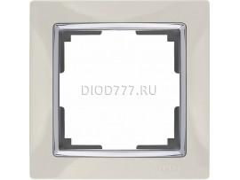 WL03-Frame-01-ivory / Рамка на 1 пост (слоновая кость)