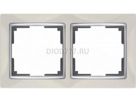 WL03-Frame-02-ivory / Рамка на 2 поста (слоновая кость)