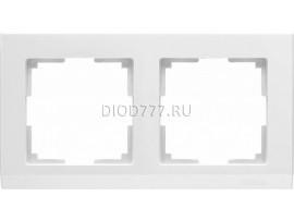 WL04-Frame-02-white / Рамка на 2 поста (белый)