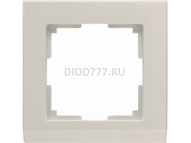 WL04-Frame-01-ivory / Рамка на 1 пост (слоновая кость)