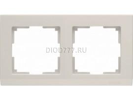 WL04-Frame-02-ivory / Рамка на 2 поста (слоновая кость)