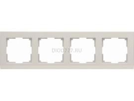 WL04-Frame-04-ivory / Рамка на 4 поста (слоновая кость)