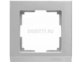 WL04-Frame-01 / Рамка на 1 пост (серебряный)