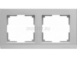 WL04-Frame-02 / Рамка на 2 поста (серебряный)