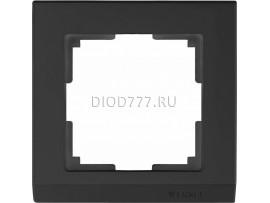 WL04-Frame-01-black / Рамка на 1 пост (черный)