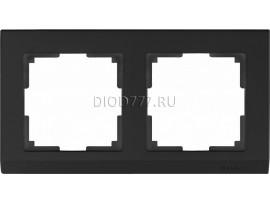 WL04-Frame-02-black / Рамка на 2 поста (черный)