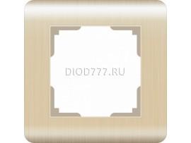 WL12-Frame-01 / Рамка на 1 пост (шампань)