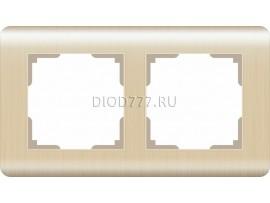WL12-Frame-02 / Рамка на 2 поста (шампань)