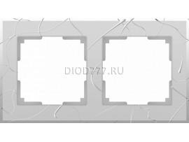 WL06-Frame-02 / Рамка на 2 поста (серебряный)