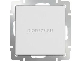 Выключатель одноклавишный проходной (белый)