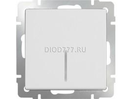 Выключатель одноклавишный с подсветкой(белый)