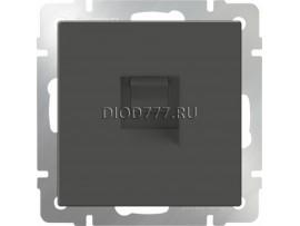 Телефонная розетка  RJ-11  (серо-коричневый)