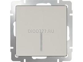 Выключатель одноклавишный проходной с подсветкой (слоновая кость)